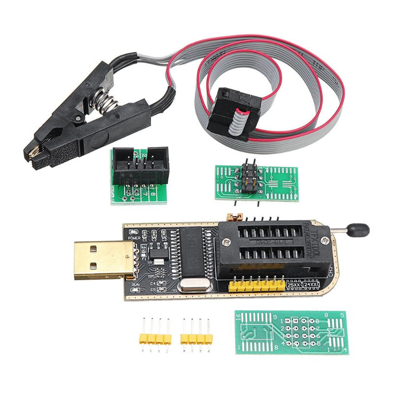 CH341A Module Mainboard USB Professional Programmer EEPROM Flash Test Clip BIOS For EEPROM 93CXX / 25CXX / 24CXX In-circuit Prog