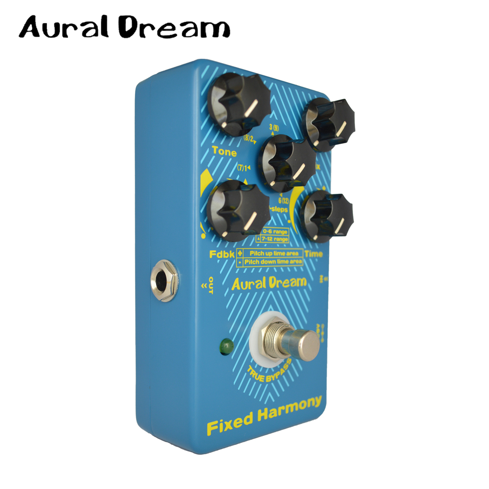 Aural Dream Fixed Harmony Digital Guitar Effect Pedal With Tone Mix FDBK Time Knob Guitarra Accessories fifth harmony acapulco