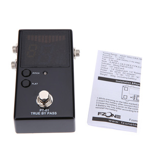 Image 5 - Protable Guitar Pedal Tuner for Guitarra Bass Violin Ukelele Guitar Tuner Stringed Instruments Clear View with FND Screen
