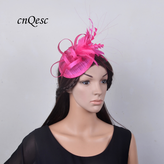 d9af3992adbc5 8 colour.Feather sinamay Hat Fascinator for Melbourne cup