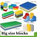 10 estilo del tamaño grande de montaje de bloques de construcción diy creativo toy bricks educational building block ladrillo compatible con el lego duplo