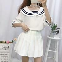Kawaii JK Japanese School sailor uniform fashion school class navy sailor school uniforms for Cosplay girls suit