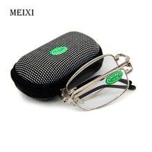 Складные прозрачные очки для чтения для мужчин и женщин, сетчатый чехол с зажимом для ремня, дальнозоркость+ 1,0+ 1,5+ 2,0+ 2,5+ 3,0+ 3,5+ 4,0
