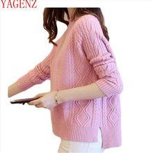 Модный женский свитер s новая весенне-осенняя одежда свободные топы элегантный женский свитер Корейская версия плюс размер женщин 1436