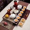 Чайный набор кунг-фу  керамическая чайная чашка  сине-белый чайник  костяной фарфор GaiWan  чайное море  фарфор фильтр-кружка  чайный сервиз