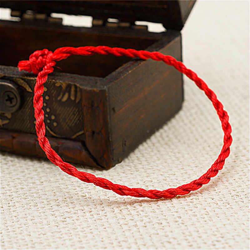 1 Cái Thời Trang Dây Đỏ May Mắn Đỏ Dây Thừng Handmade ID Vòng Tay Dành Cho Nữ Trang Sức Người Yêu Cặp Đôi