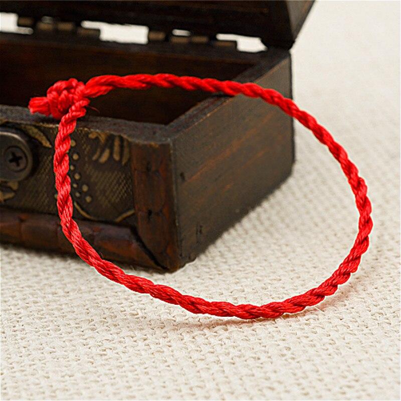 1 Pcs Fashion Rode Lijn Geluk Rode Handgemaakte Touw Id Armbanden Voor Vrouwen Mannen Sieraden Minnaar Paar Tegen Elke Prijs