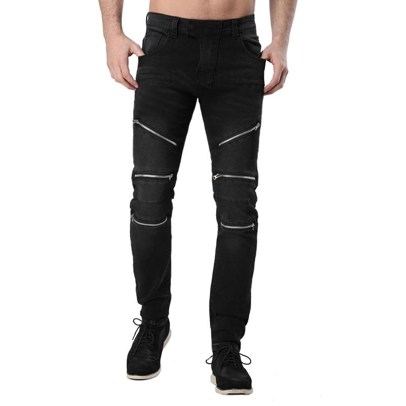 Men Jeans Motorcycle Biker Design Fashion Race Jeans For Men Hip Hop Jeans H0297-in Jeans from ...