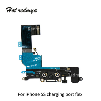 10Pcs/lot Charging Flex For iPhone 5G 5C 5S SE Charger Charging Port USB Connector Data Flex Cable Headphone Jack Flex Ribbon