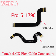 цена на WEIDA Flex Cable Connectors Replacment For Microsoft Surface Pro 5 Pro5 1796 LCD Cable Touch Small Board Flex Cable Conntectors