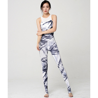 One Piece Tracksuits Yoga Sets Print Floral Tight Leggings Women Workout Clothing Sets Jumpsuit Gym Pilates Athletic Sport wear