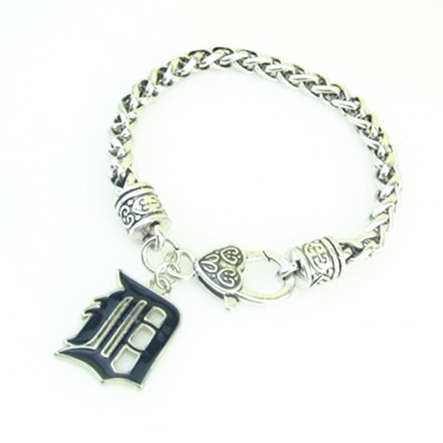 High Quality Zinc Alloy Enamel Baseball Detroit Tigers Charm Bracelet For Women And Men Jewelry Gift