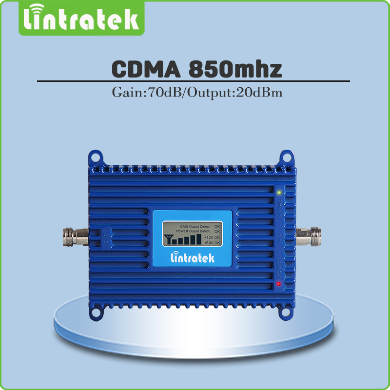 Gain70dB CDMA Signal Amplifier LTE Band 5(850 CDMA) Signal Repeater GSM CDMA 850MHz Mobile Phone Signal Booster with LCD Display