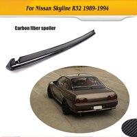 Carbon Fiber Trunk Boot Rear trunk lip wing spoiler For Nissan Skyline R32 GTR 1989 1994