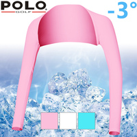 New Authentic Polo Golf Bask Cape Sleeves Lycra Ice UV Special Package Lady Summer Sunscreen Arm Warmers Arm Cuff Cycling