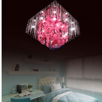 Modern Brief Rustic Wall Lamp Bedroom Crystal Flower Living Room Lamps Fashion Personality Bedside Lamp