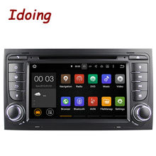 Idoing Автомобильный Мультимедийный Dvd-плеер 2Din Руль Для Audi A4 Android Quad Core GPS Навигации Видео 3 Г WI-FI SWC Dual OBD2 ТВ