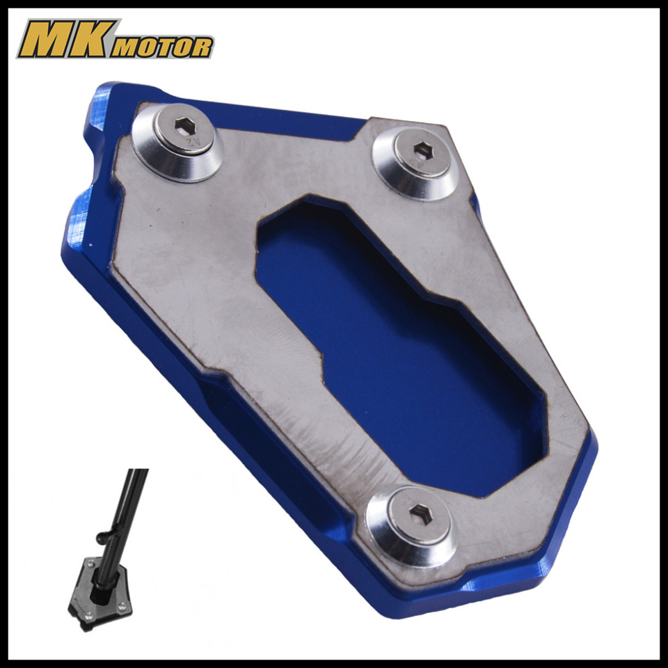 CNC Kickstand Side Stand Pad For BMW R1200GS 2012-2016 R 1200GS Adventure LC K51 2013-2016 for bmw f800r 2009 2012 2013 2014 hp2 08 motorcycle cnc aluminum side stand enlarger cnc kickstand pate pad side stand enlarger