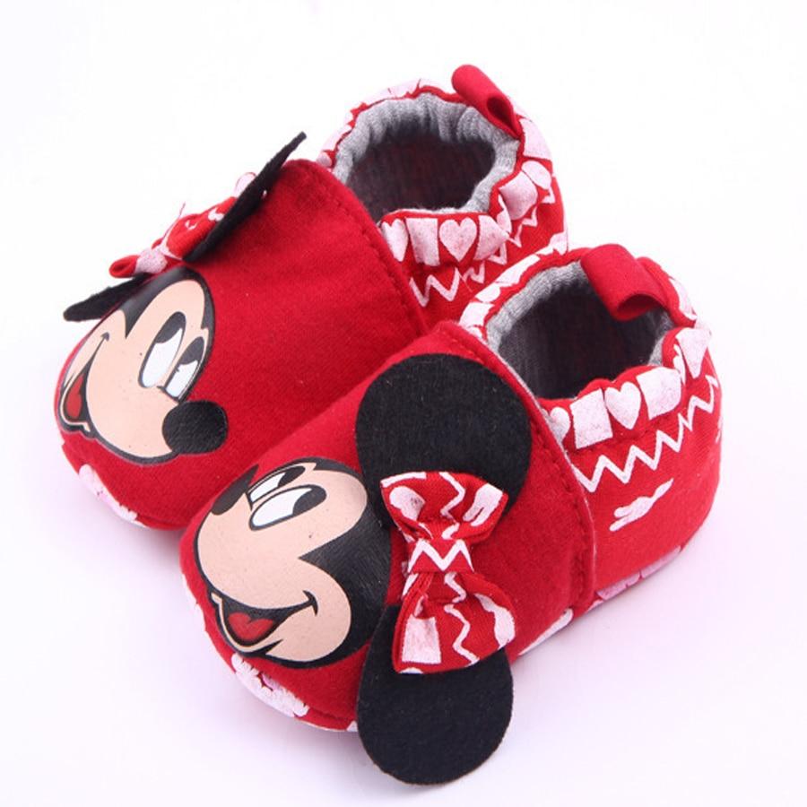 Merk Baby Meisje Schoenen Cartoon Minnie Loafers Pasgeboren Crib - Baby schoentjes - Foto 2