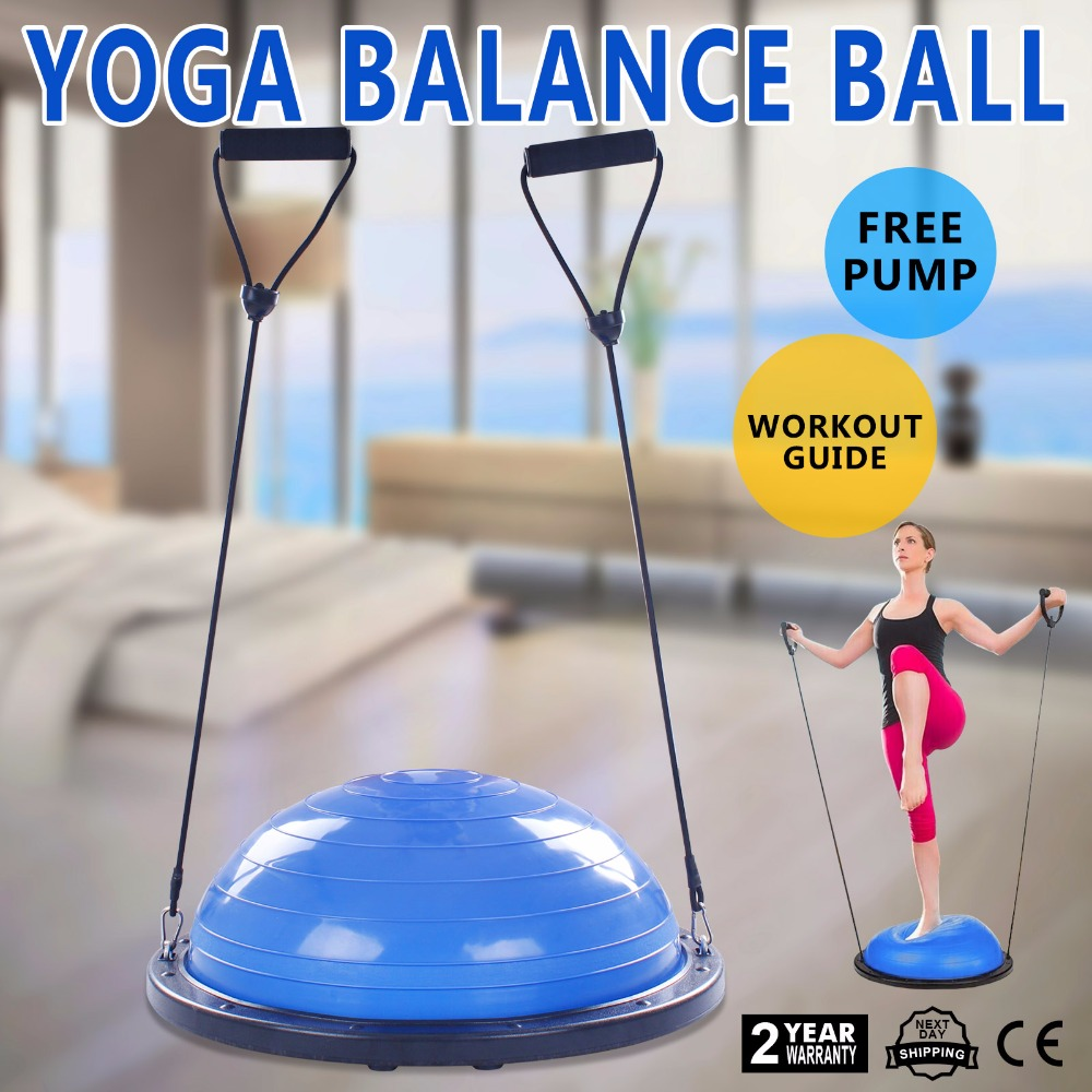 Bosu Ball Balance Trainer Yoga Fitness Strength Exercise with Pump yoga fitness half bosu balance yoga ball bo speed ball