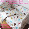Promotion 6 7pcs Baby Quilt Cover Baby Cot Beds 100 Cotton New Brand Bed Baby Bedding