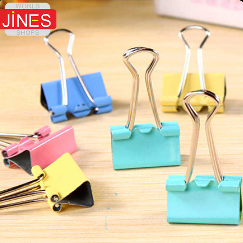 15/19/25/32/41/50mm dovetail clamp binder tail clip Office & School Supplies Colorful stationery iron Free shipping Papelaria