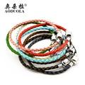 Genuine Leather Basic Bracelet Bangles Fit Women  Charm Bead Bracelet Necklace DIY Jewelry
