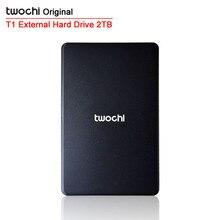 "Free shipping TWOCHI T1 Original 2.5"" Slim Mobile Portable HDD 2TB USB2.0 External Hard Drive 2000GB Storage Disk Plug and Play"