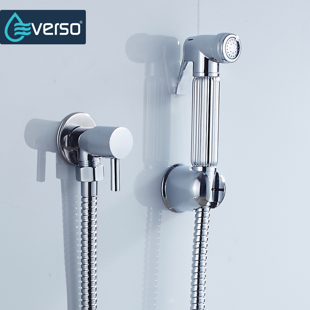 EVERSO Bathroom Bidet Faucet Set Toilet Shower Spray Brass Bidet ...