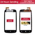 Тестирование AAA Качество Датчик 3.7 дюймов Сенсорный Экран Для Nokia 610 Дигитайзер Сенсорным Экраном Стеклянной Панели Замена Части Бесплатная Клей
