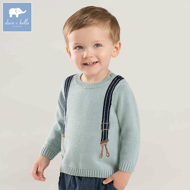 все цены на DB8500 dave bella autumn infant baby boys fashion long sleeve pullover tops kids toddler tops children knitted sweater