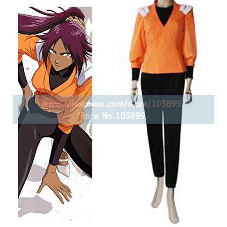Bleach Yoruichi Shihouin Halloween Cosplay Costume(orange ...