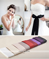 3.8*265cm Purple 7 Colors for you  Belt for Wedding Dress Belt Buckle Black  Women Red Pink Fashionable Belt for Dress In Stock