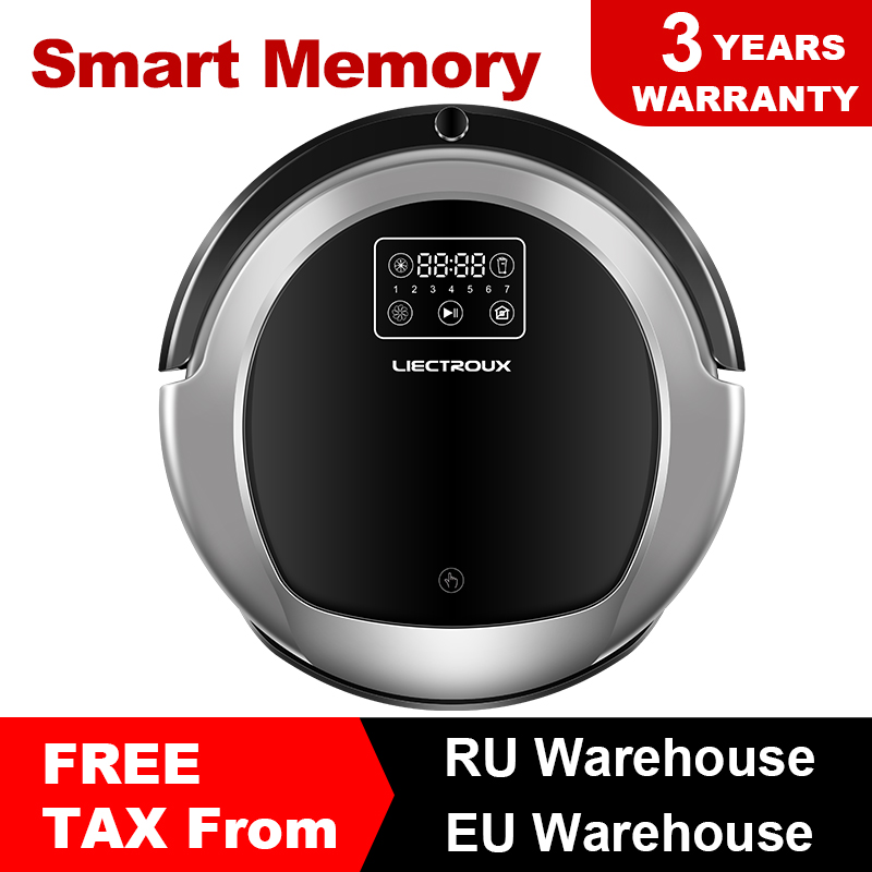 LIECTROUX B6009 Robotic Vacuum Cleaner, Mappa di Navigazione, Memoria Intelligente, Basso Ripetizione, Virtuale Bloccante, lampada UV, Serbatoio di Acqua, A Basso rumore