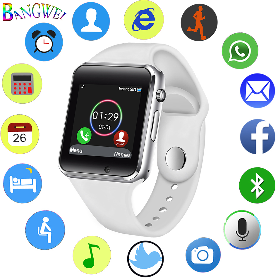 2018 New Smart Watch Men Women Sport LED Color Touch Screen Smartwatch Support S