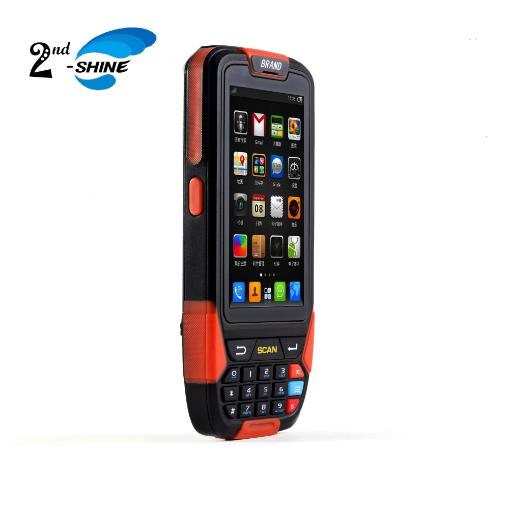 Quad Core 2D Barcode Scanner Android With 3G/4G Wireless Communication Support Wifi Bluetooth USD GPS