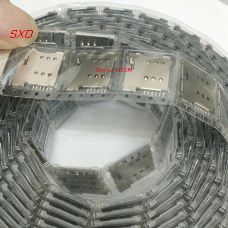 SIM Card Slot Micro 6P 6-Pin Memory Holder/adapter/connect Use