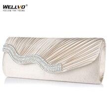 Wellvo 2018 горный хрусталь дамы клатч Для женщин вечерняя сумочка; BS010 сумка Свадебная вечеринка кошелек ручной цепи Сумки Bolsas Mujer xa108km