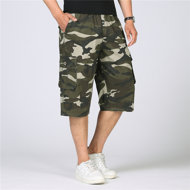 acd43197ba New 2018 Summer Camouflage Cargo Shorts Men Knee Length Military Camo  Shorts Casual Cotton Baggy Tactical Shorts Plus Size 5XL