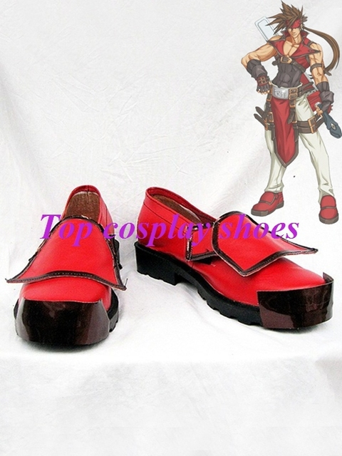Freeshipping custom-made anime Guilty Gear XX Sol Badguy Cosplay Shoes boots  for Halloween Christmas