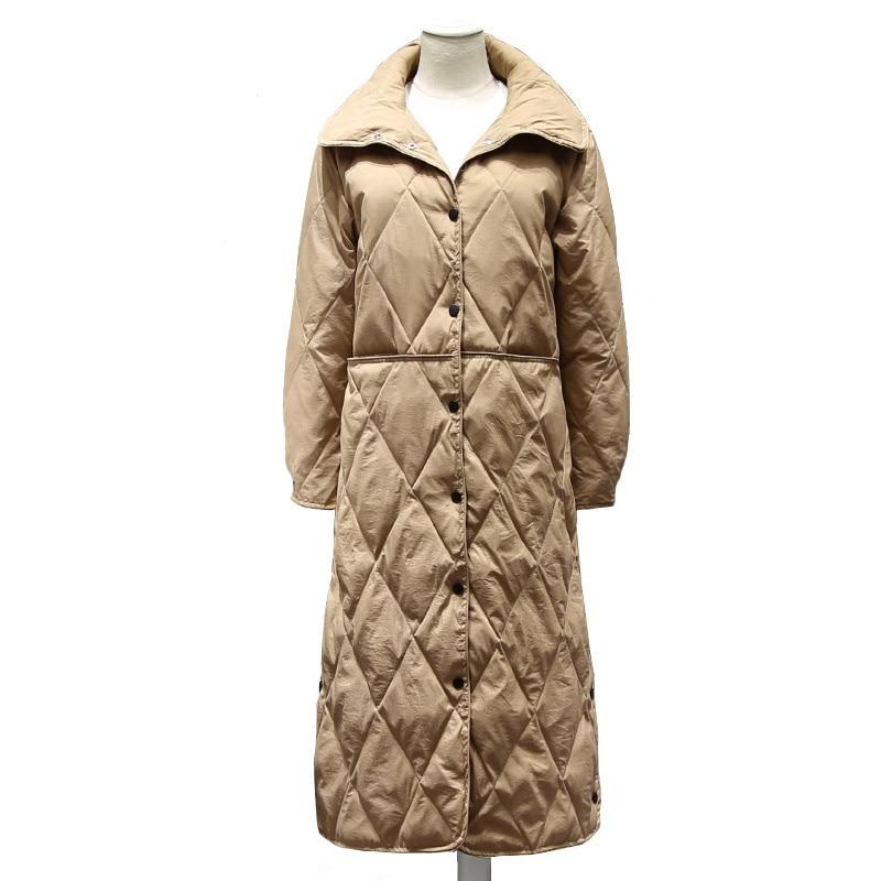 Tops Bas Canard Automne Manteau S417 La En Survêtement Ultra Léger khaki Hiver Femelle Long Veste Duvet white De Sanishroly Noir Taille Blanc Du Plus Femmes Parka 8U6qxn8Cw