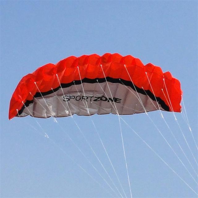 Software de Parapente Paracaídas Doble Línea Cometa Del Truco Parafoil Nylon Deporte Kitesurf Cometa Parapente Portátil Deporte Juguete Para Adultos