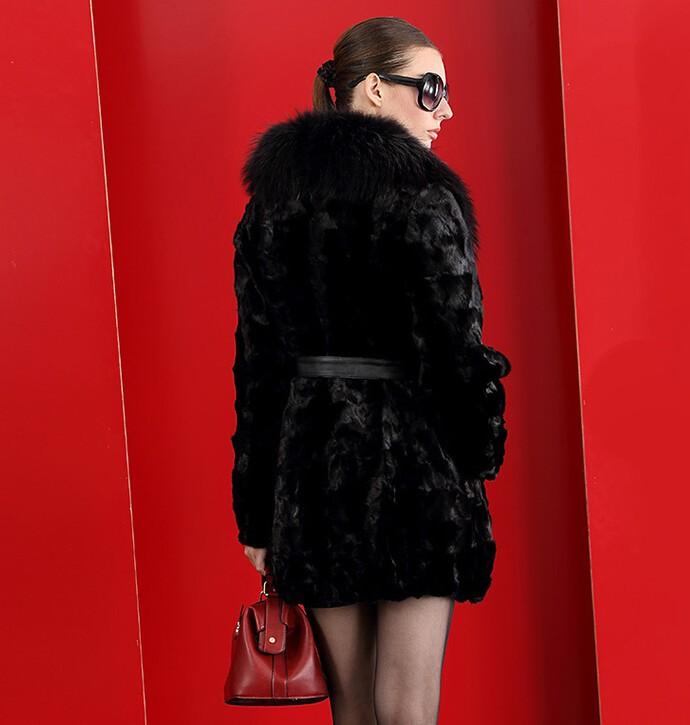 дамы зимний мех средней длины - из искусственного меха верхняя одежда