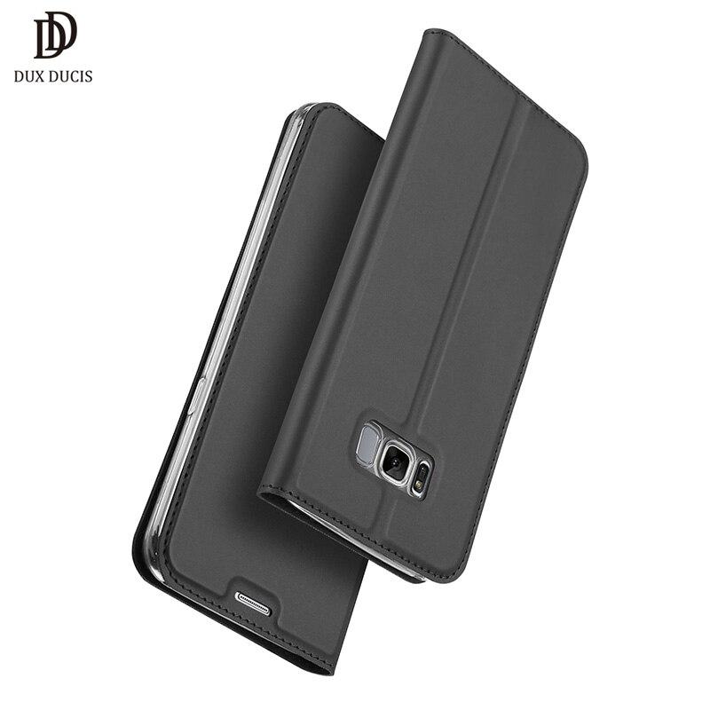 DUX DUCIS Cas De Luxe pour Samsung Galaxy S8 G950F PU En Cuir Flip Cas de Couverture pour Samsung S8 Plus G955F Double SIM G955FD Coque