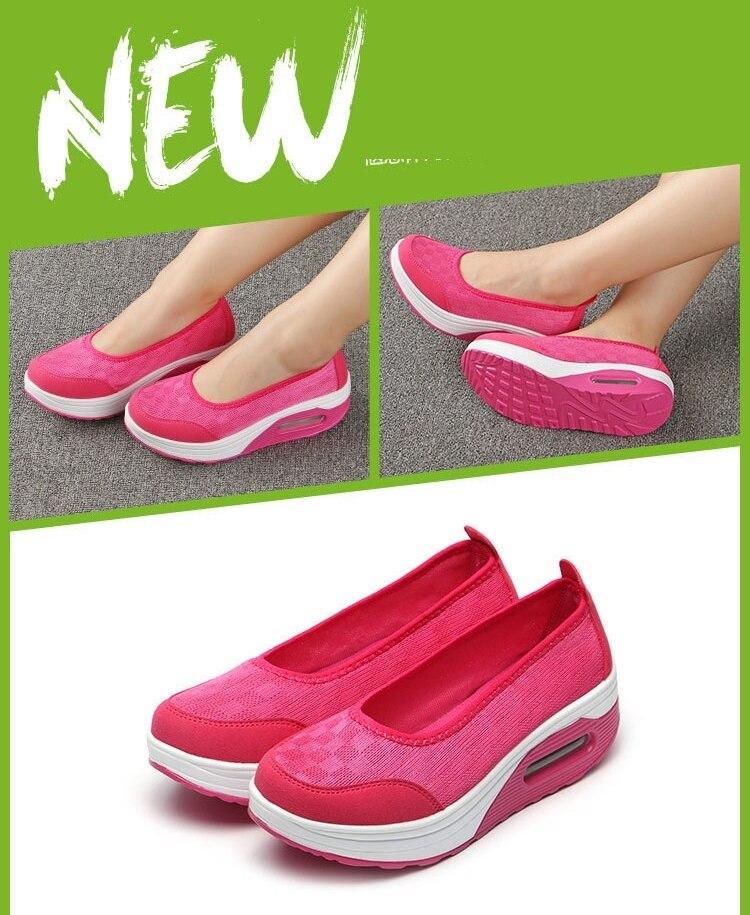Plataforma mulher vulcanizar sapatos mocassins deslizamento em