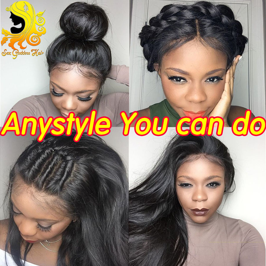 High Ponytail Full Lace Human Hair Wigs With
