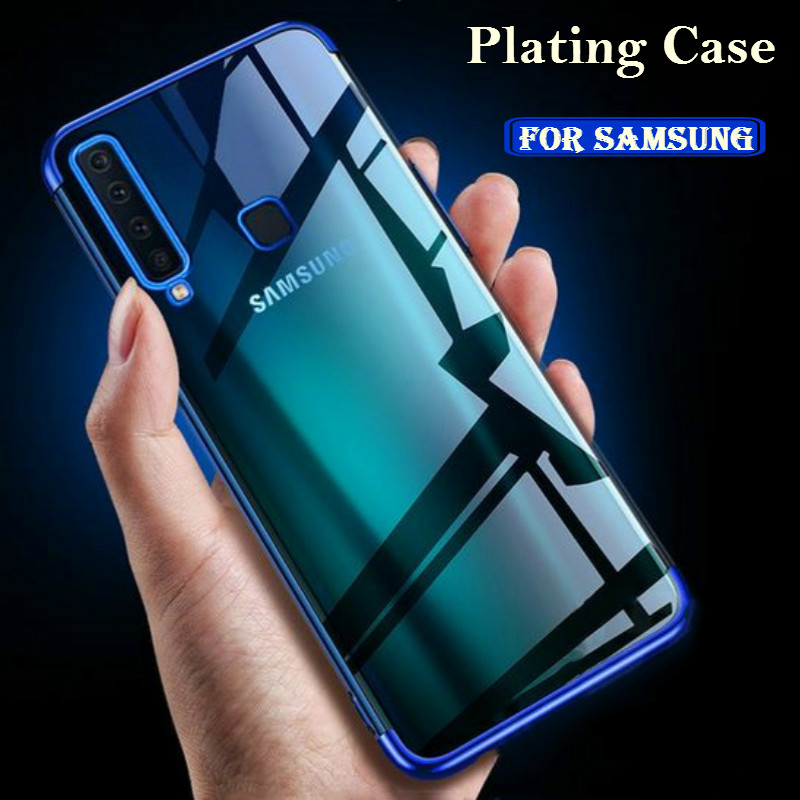Luxury Plating Case For Samsung A70 A60 A50 A40 A30 A20 A10 M30 M20 Galaxy S10Plus S10E Coque A6 A8 S9 S8 Plus A7 2018 TPU Cover