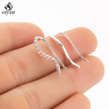 Oly2u Silver Vintage Wave Earrings Cuff Ear Climbers for Women Jewelry Ear Jackets Ear Climbers Stud Earrings femme Earing Gift(China)