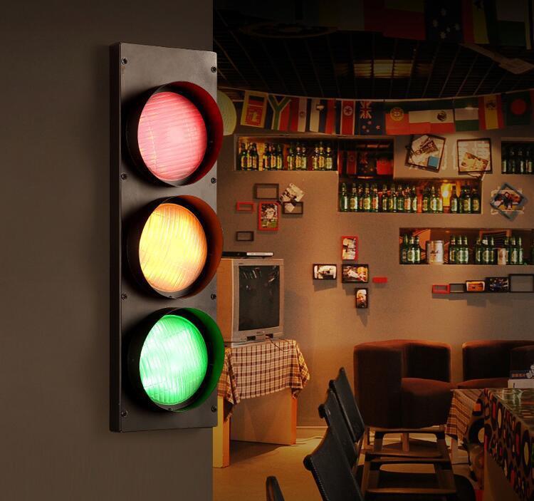 Lampe murale de trafic américain salle d'instruction moderne industrielle applique murale décorative hôtel applique murale lampe