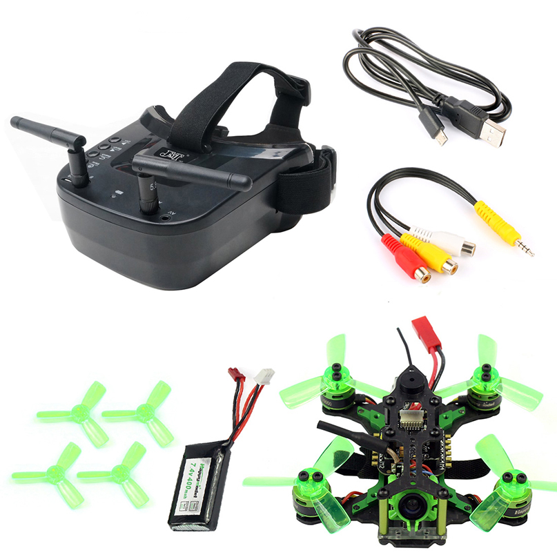 Mantis85 85mm 5.8G FPV Micro Racing Drone Quadcopter BNF 600TVL Camera VTX & Double Antenna 3 Inch Mini Video Goggles For FLysky